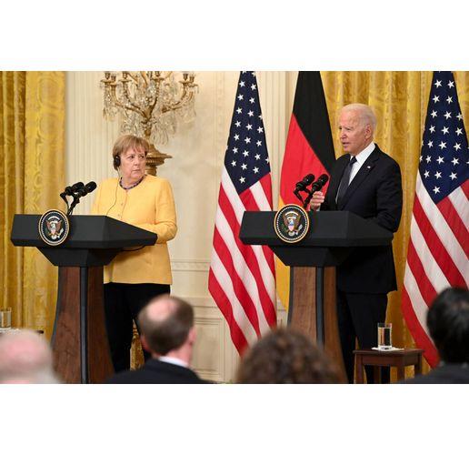 Ангела Меркел и Джо Байдън