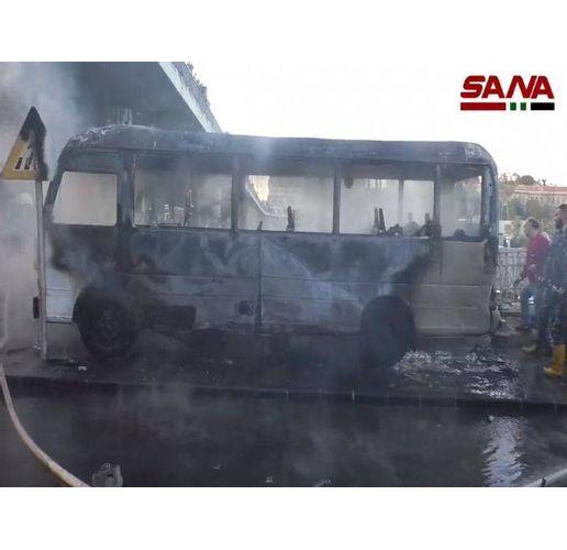 Взривеният автобус