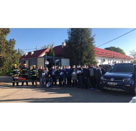 Обучението на пожарникари в Румъния