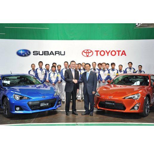 Субару и Тойота