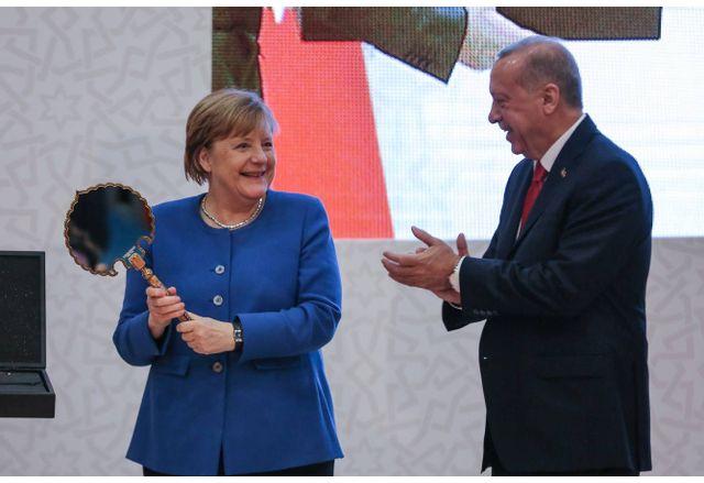 Ангела Меркел и Реджеп Таийп Ердоган