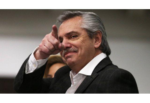 Аржентинският президент Алберто Фернандес