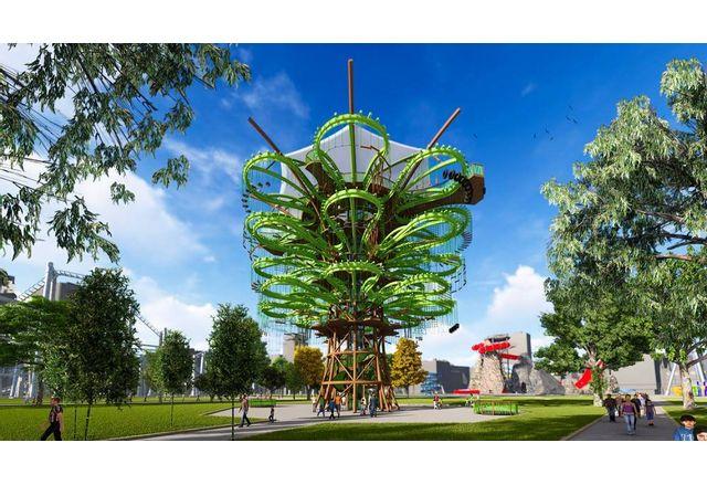 Атракционен комплекс във формата на дърво