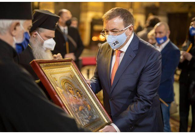Варненският митрополит Йоан благослови коалицията ГЕРБ-СДС във Варна