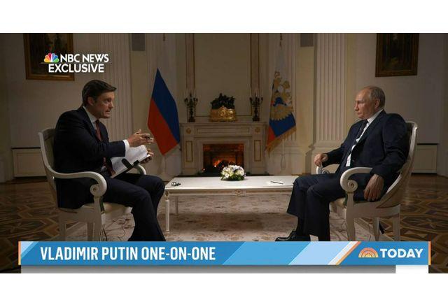 Владимир Путин в интервю за NBC