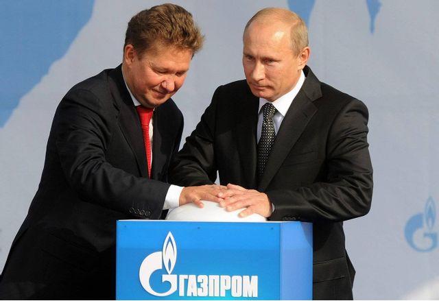 Владимир Путин и Алексей Милер