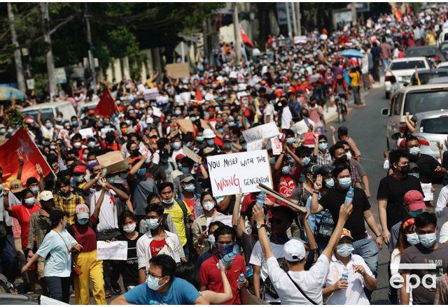 Десетки хиляди протестираха отново в Мианма срещу извършителите на военния преврат