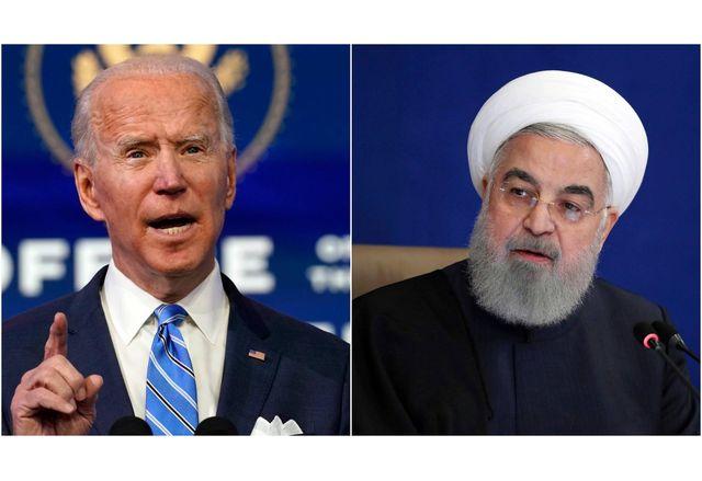 Джо Байдън и иранският президент Хасан Рухани