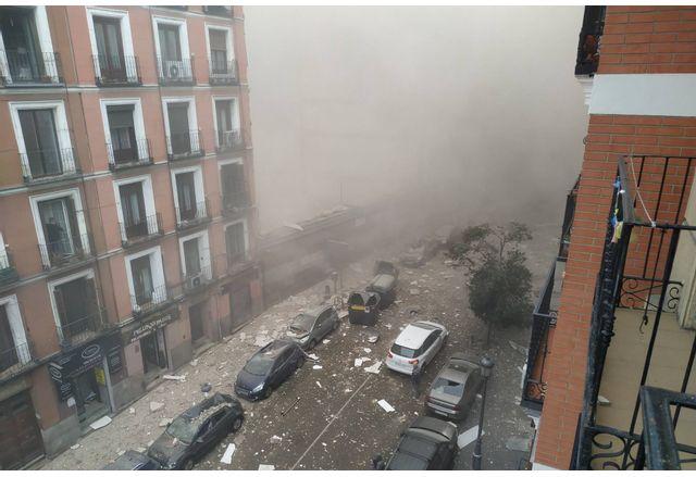 Експлозия в центъра на Мадрид - има загинали