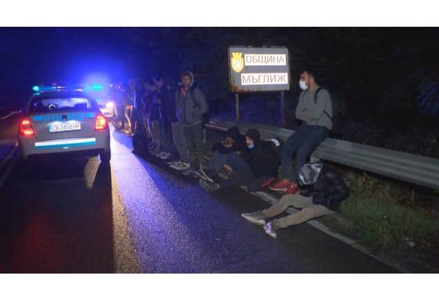Задържаните нелегални мигранти