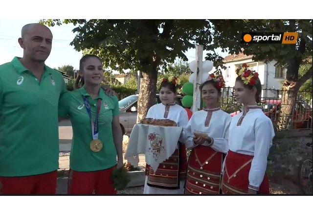 Ивет Горанова и нейният треньор Ангел Ленков в Долна Митрополия