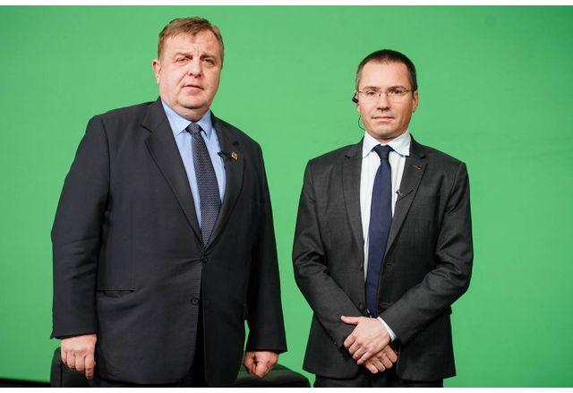 Красимир Каракачанов и Ангел Джамбазки