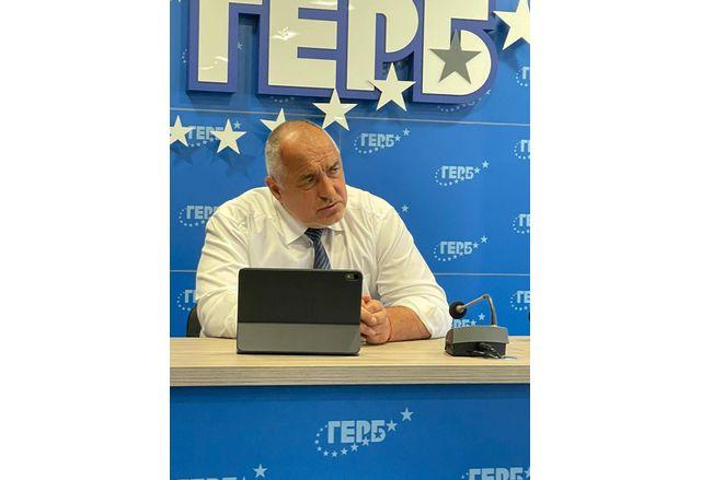 Лидерът на ПП ГЕРБ Бойко Борисов