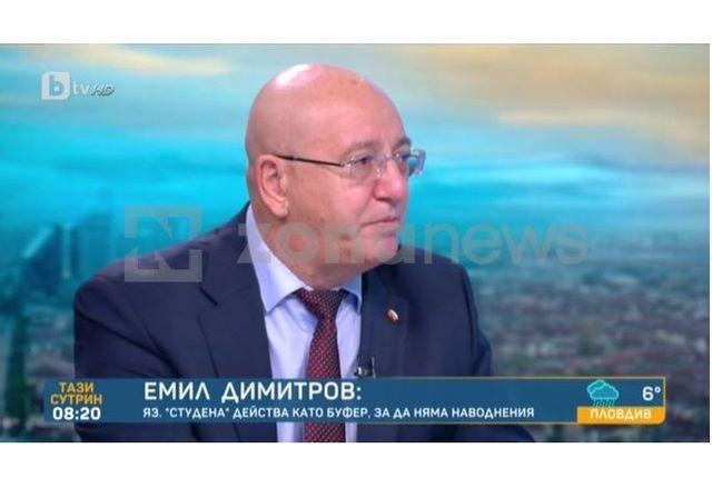 Министър Емил Димитров към bTV: Не идвам в студиото ви от две години заради тенденциозността тук