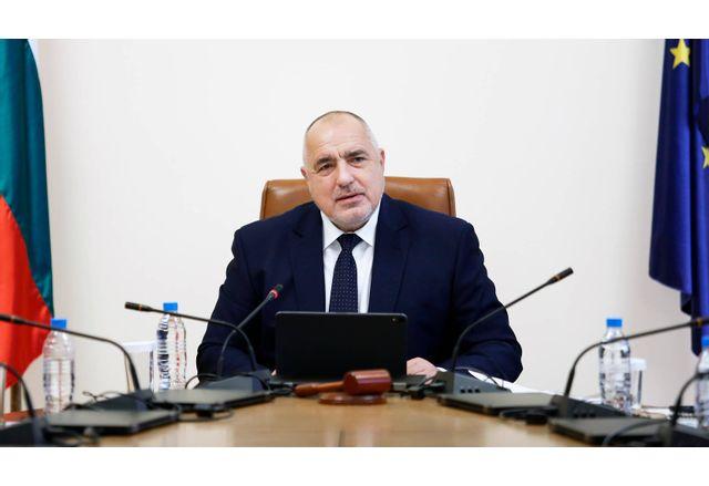 Премиерът Бойко Борисов на заседание на МС днес