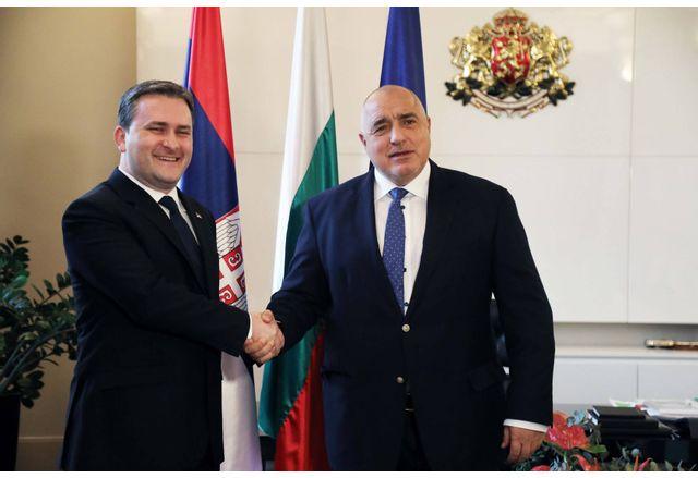 Премиерът Бойко Борисов се срещна с министъра на външните работи на Република Сърбия Никола Селакович