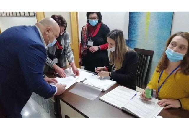 Регистрация на листата на ГЕРБ-Силистра с кандидат-депутати