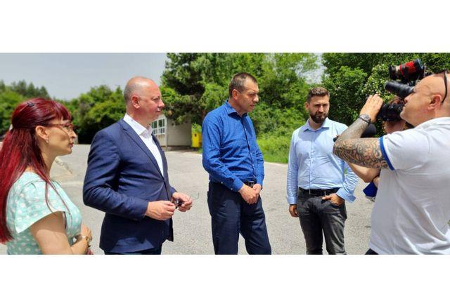 """Росен Желязков и Андрей Новаков на ГКПП """"Станке Лисичково"""""""