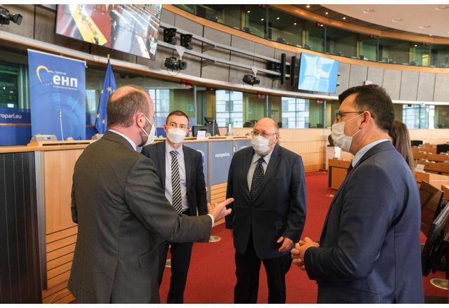 Среща на евродепутатите от ГЕРБ-СДС с Манфред Вебер