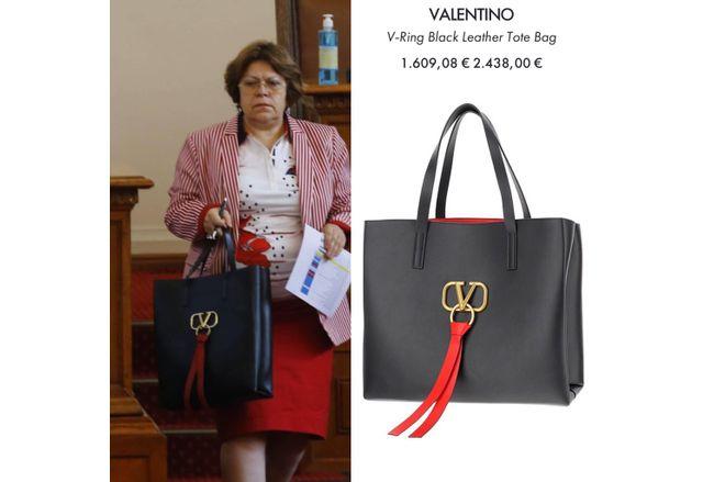 Татяна Дончева с чанта за 5 бона
