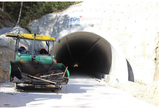Тунелът на обходния път на Габрово
