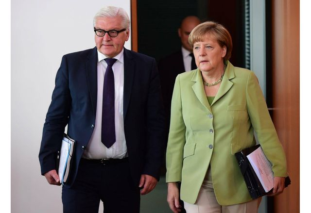Франк-Валтер Щайнмайер и Ангела Меркел